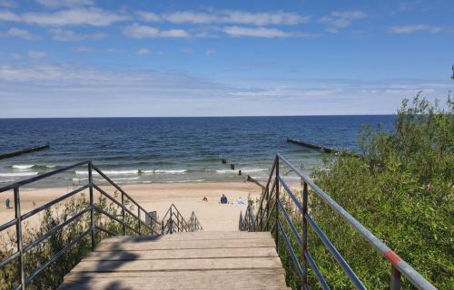 Wiosenna plaża w Ustroniu Morskim
