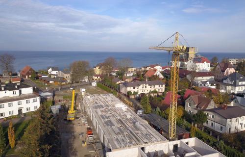 Budowa widok z drona