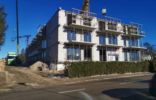 Budowa ostatniego piętra i widoki